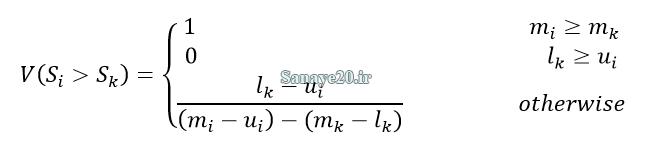 درجه احتمال بزرگی در روش AHP فازی چانگ