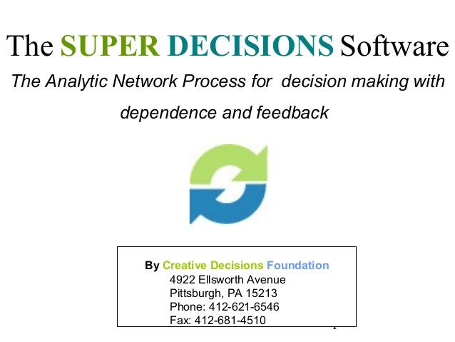 آموزش نرم افزار سوپر دسیژن (Super decision)