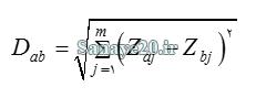 محاسبه فاصله در ماتریس تاکسونومی