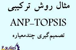 مثال روش anp-topsis