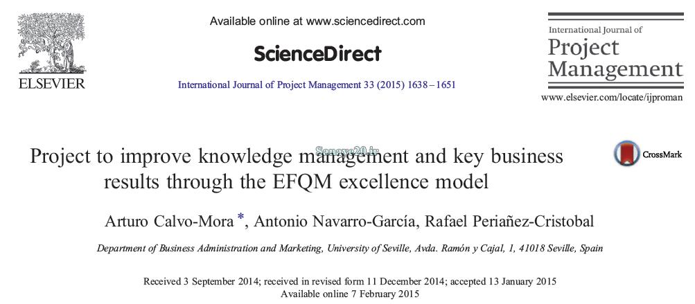 مقاله 2015 مدل efqm