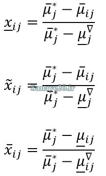 نرمال سازی معیارهای منفی در خاکستری سه متغیره
