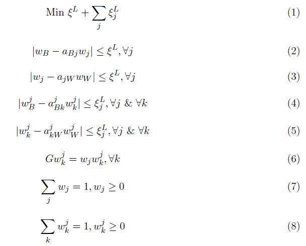 مدل غیر خطی BWM سلسله مراتبی