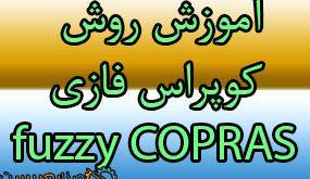 روش کوپراس فازی fuzzy copras