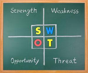 تدوین استراتژی ماتریس swot و qspm